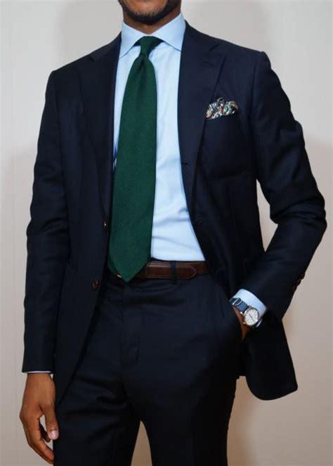 light blue shirt with tie navy suit light blue shirt green tie