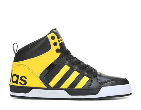 Adidas Neo Vall Nubuck simple adidas neo raleigh 9tis high top sneaker mens black yellow white sneakers