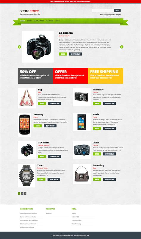 free wordpress ecommerce theme 10 top free wordpress ecommerce themes of 2013 free wp