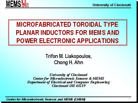 planar inductor applications mems inductors technology and applications 28 images buy mems and moems technology and