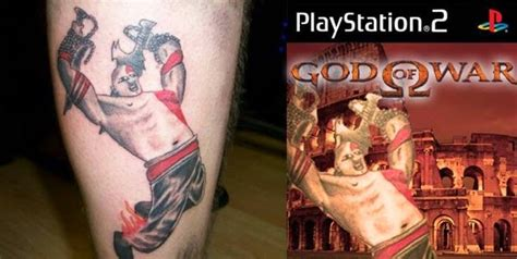 tattoo fail kratos geek ink god of war nerdgasm needs