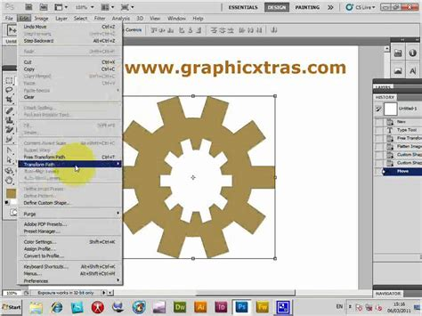 photoshop cs3 tools tutorial photoshop custom shapes and path add subtract etc tools