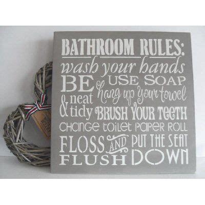bathroom rules plaque bathroom rules wall plaque decor pinterest