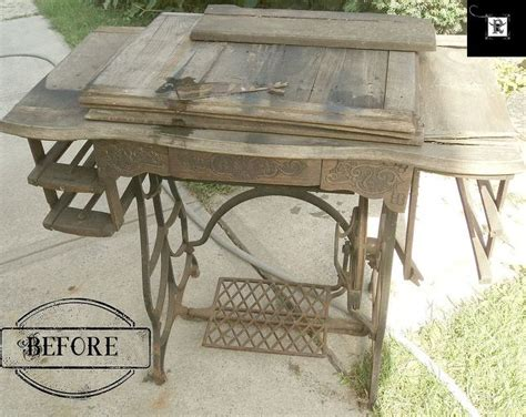 repurposed dining table repurposed treadle sewing machine to dining table hometalk