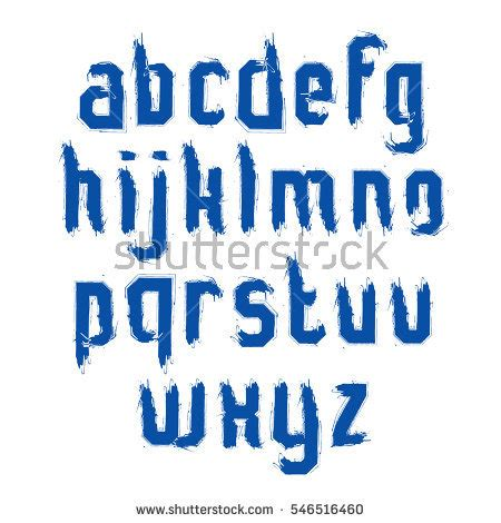 Font Acrylic express service font fast speed lines stock vector
