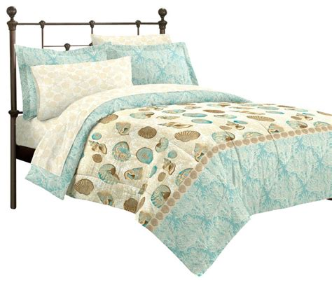 beach style comforter sets sea breeze seashell full comforter set beach style