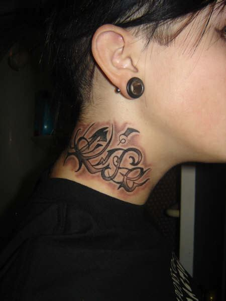 small side neck tattoos neck images designs