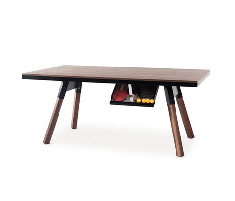 You And Me 180 Ping Pong Table Walnut Dining Tables From Dining Table Ping Pong Set