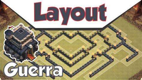 layout cv9 guerra youtube o mais top layout cv9 de guerra clash of clans youtube