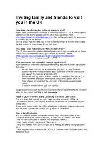 invitation letter for visitor visa friend invitation