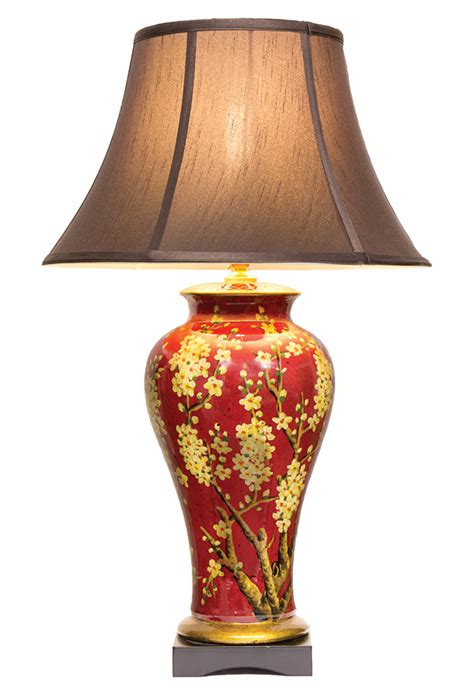 Funky Vases Chinese Table Lamp Pair