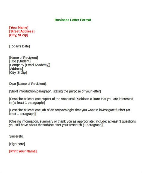 formal letter templates wordpdf document