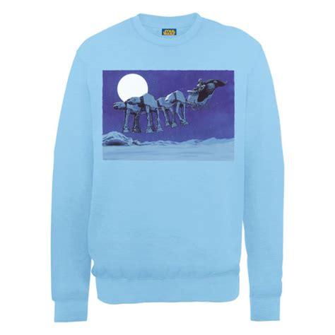 Cartexblanche Jumper Lightblue Limited wars at at sleigh sweatshirt light blue merchandise zavvi
