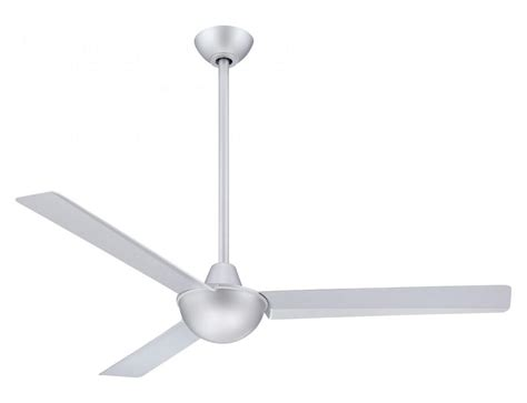 silver 3 blade ceiling fan minka aire silver 52in 3 blade indoor ceiling fan with