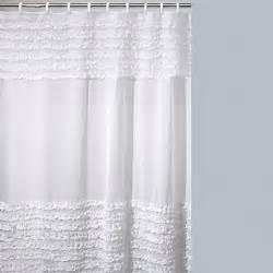 bed bath shower curtain buy creative bath ruffles shower curtain from bed bath