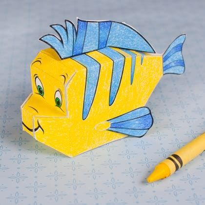 Best Paper Craft - flounder 3d papercraft disney family
