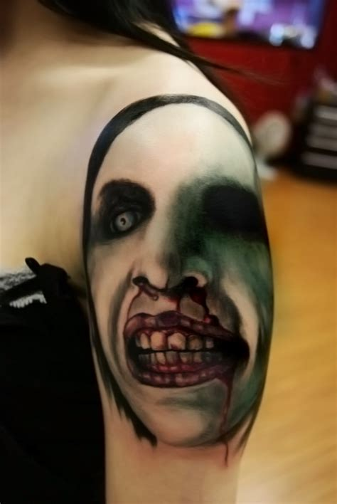 marilyn manson tattoo marilyn by filthmg on deviantart