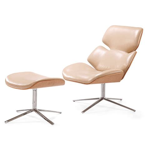scandinavian leather office chairs scandinavian design laminated plywood shell leisure style