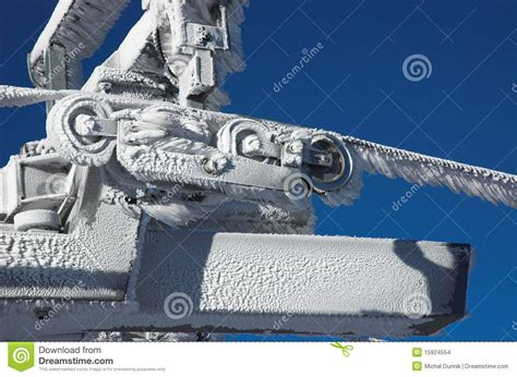 Frozen Cabin by Frozen Cabin Lift Construction Stock Images Image 15924554