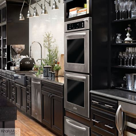 Red Shed Home Decor kraftmaid maple kitchen cabinetry in onyx contemporary