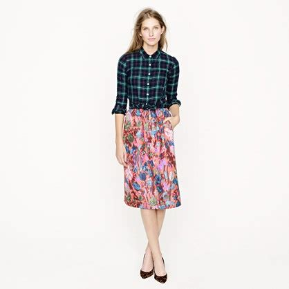 012 Rona Pant Skirt collection skirt in floral jacquard skirts s collection j crew jcrew
