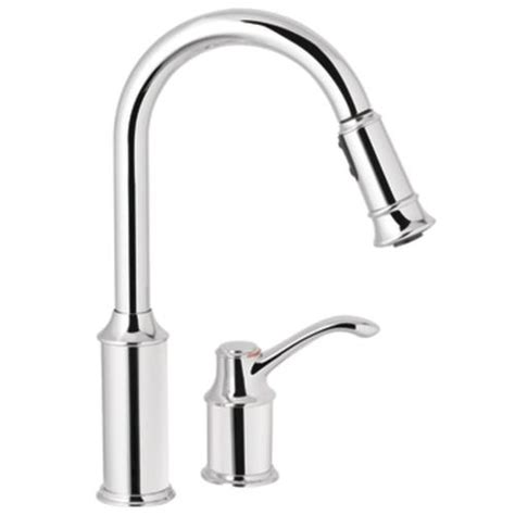 moen high arc kitchen faucet moen aberdeen single handle high arc pulldown kitchen