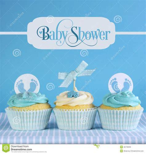 Baby Shower Card Cupcake Template by Blue Theme Baby Boy Cupcakes With Greeting Sle Text