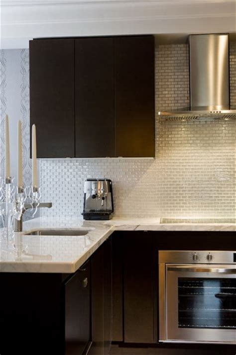 Espresso Kitchen Cabinets Contemporary Kitchen