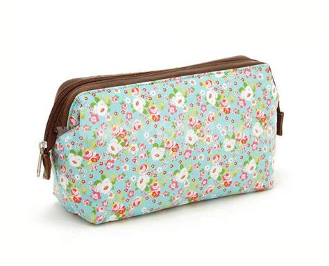 makeup bag pattern pastoral style canvas floral pattern cosmetic bag large