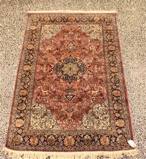 kashmir rug wool indian silk kashmir rug lot 34698