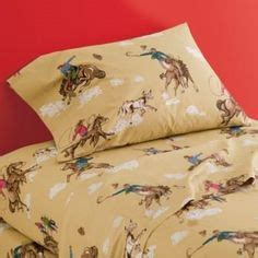kids western bedding vintage cowboys indians horses western fabric cotton 84 quot long prairie novelty