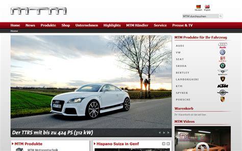 Auto Tuning München Shop by Mtm Relaunch Wettstetten Cms Shop Erp Schnittstelle