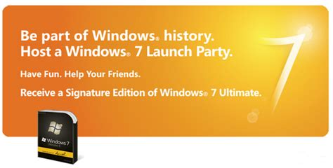 windows 7 house party get a free windows 7 ultimate dvd host a house party