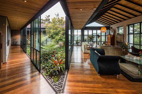 triangular shaped house  room   interior garden