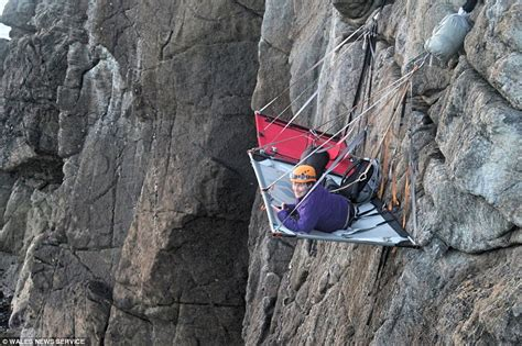 gaia adventuress cliff hanging hotel  welsh coast