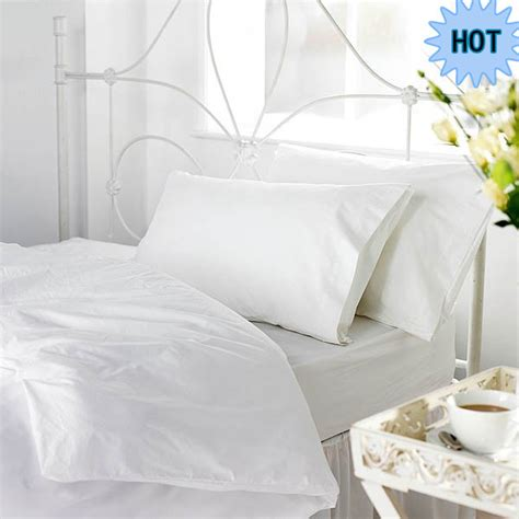 Plain White Hospital Bed Linen Sets White Single Bed Plain Bed Linen Sets