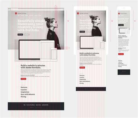 portfolio layout behance adobe portfolio marketing site on behance