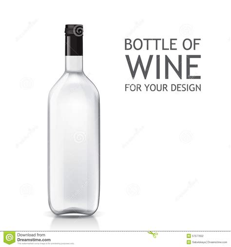 wine bottle template isolated realistic object on a bottle of wine stock vector