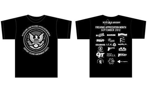 Firearms Appreciation Month 2012 T Shirt Clearance Ny Firearms Dedicated To The Shirt Sponsor Template