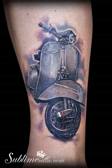 40 best vespa scooter tattoos