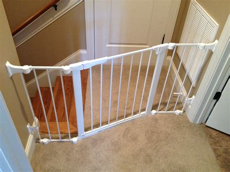 best gate for top of stairs with banister best stair gate for banisters neaucomic com