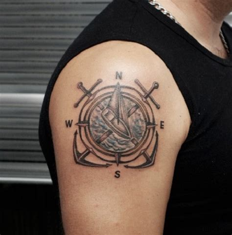 compass shoulder tattoo amazing compass ideas best 2015 designs