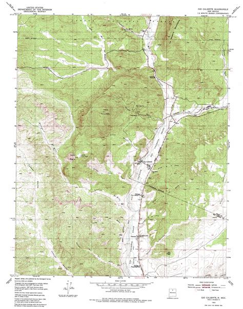 topographic map mexico ojo caliente topographic map nm usgs topo 36106c1