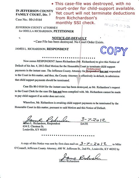 Contract Null And Void Letter Sle Notice Of Default Letter Template 28 Images 9 Best Images Of Default Notice In Lease Grant
