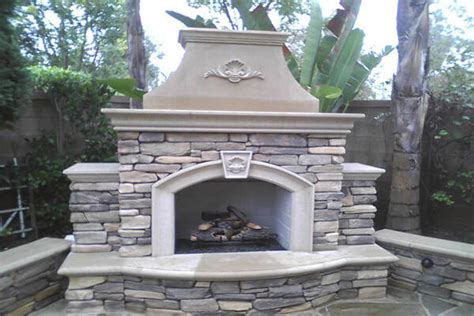outdoor fireplaces made of precast gfrc pacific