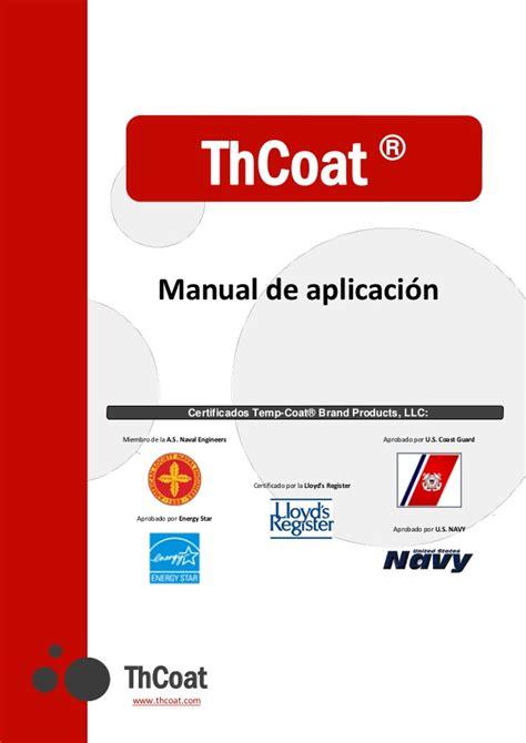 manual del espaaol urgente manual de aplicaci 243 n del tempcoat 101 en espa 241 ol