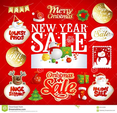 new year sales song and new year sale designs banners stock vector