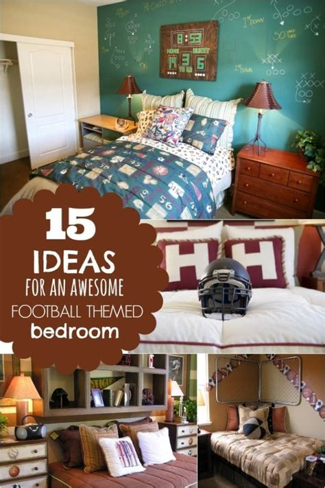 Theme Ideas For Bedrooms by 15 Ideas For A Football Themed Boys Bedroom Spaceships