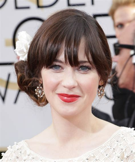 Zooey Deschanel Hairstyle by Zooey Deschanel Updo Curly Formal Wedding Updo