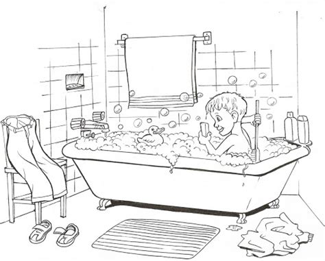 bath time coloring pages preschool bath best free